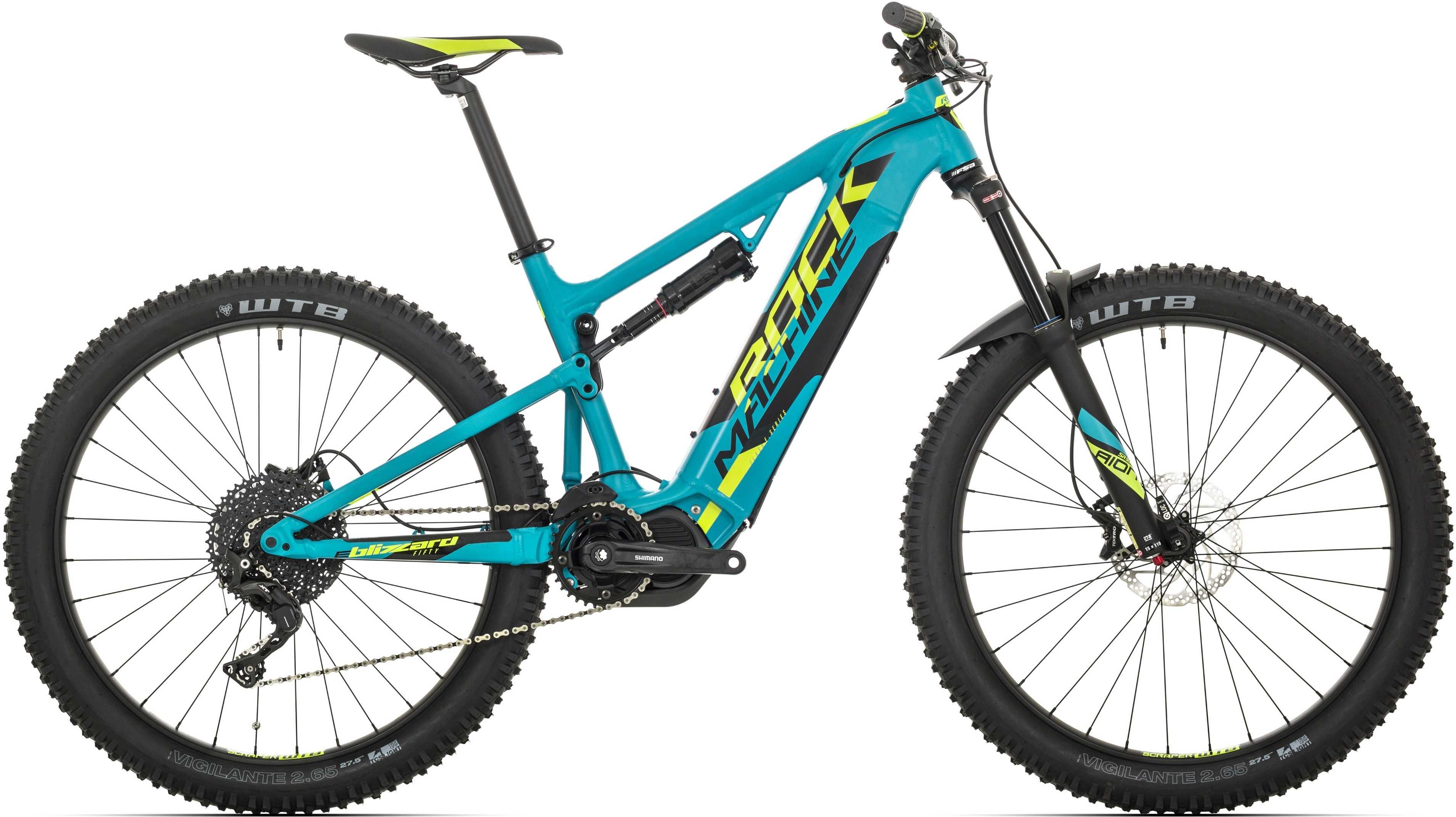 Rock Machine Blizzard Int E50-27+ matt blå/gul/svart x-large