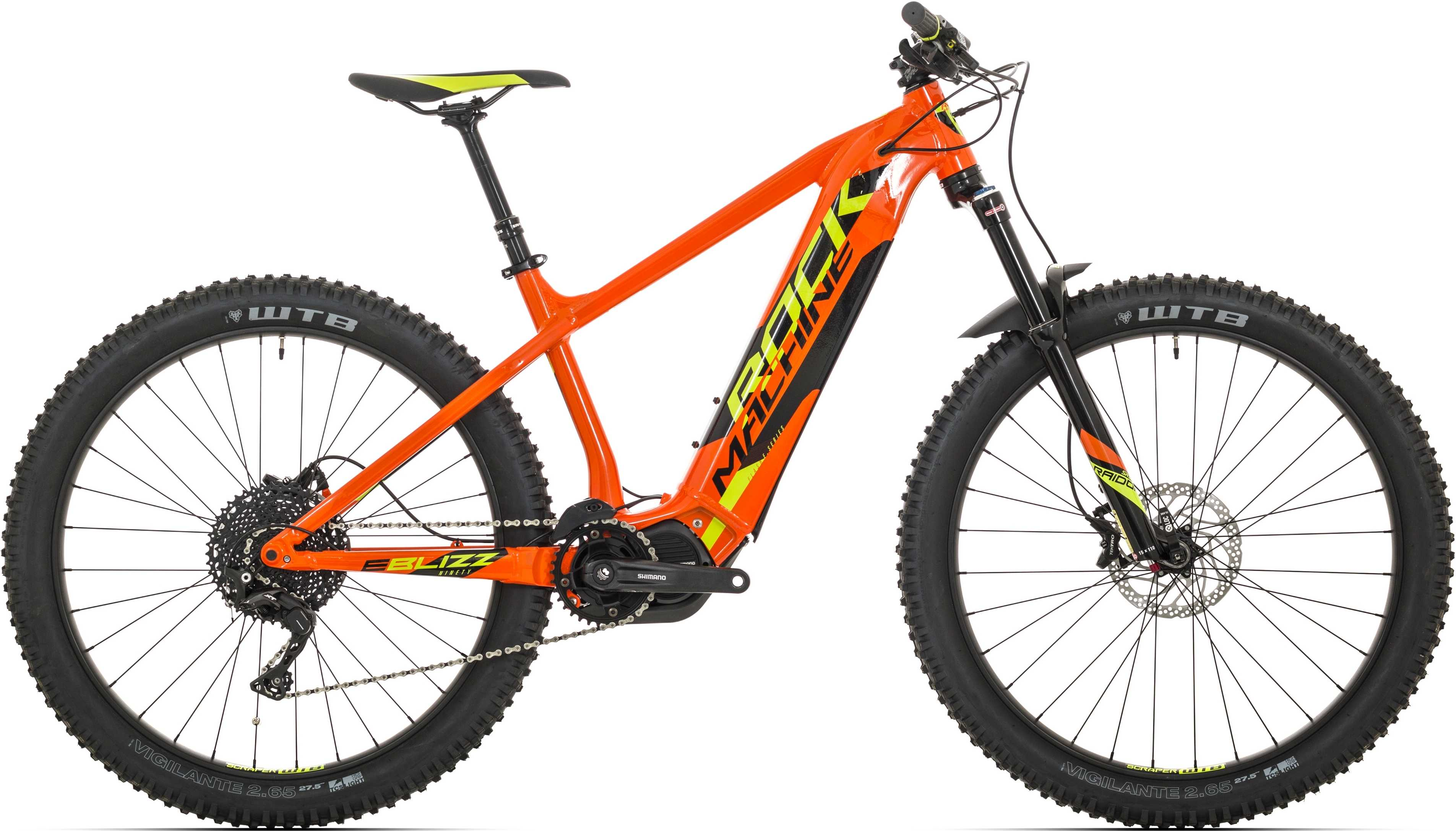 Rock Machine Blizz Int E90-27+ blankorange/gul/svart x-large