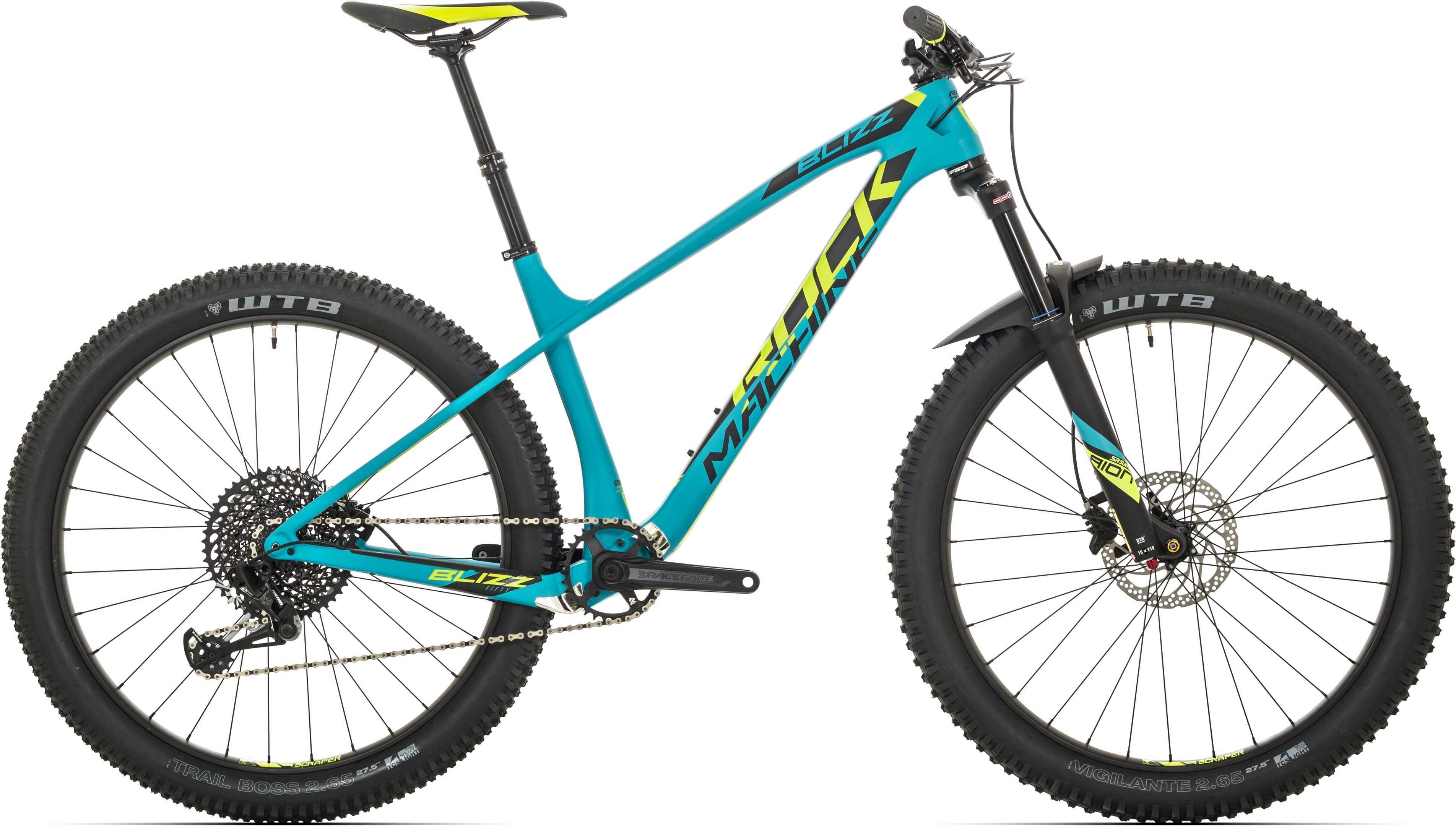 Rock Machine Blizz Crb 50-27+ matt blå/gul/svart x-large