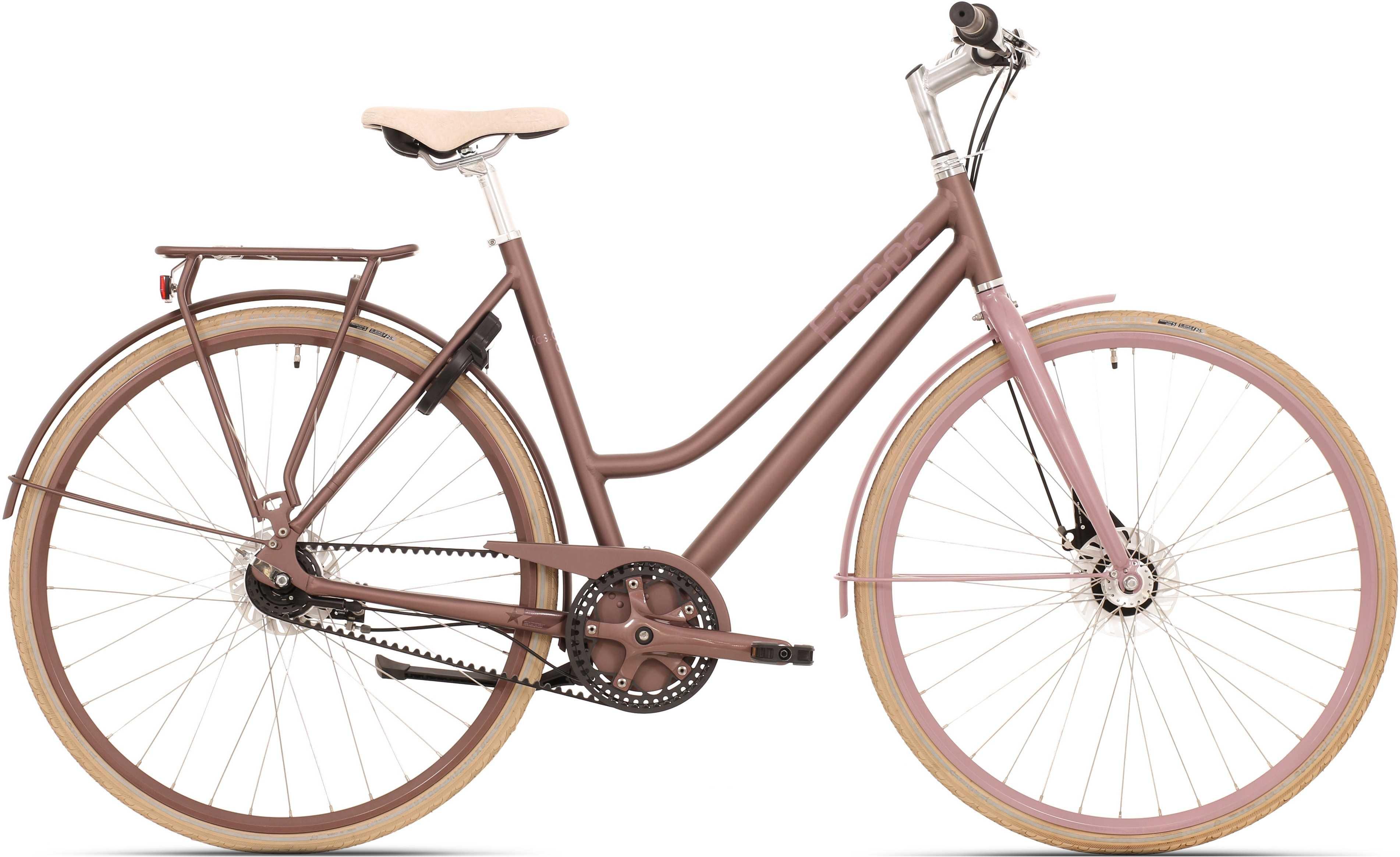 Frappe FCS 300.7 lady matt rödbrun/rosa 57 cm