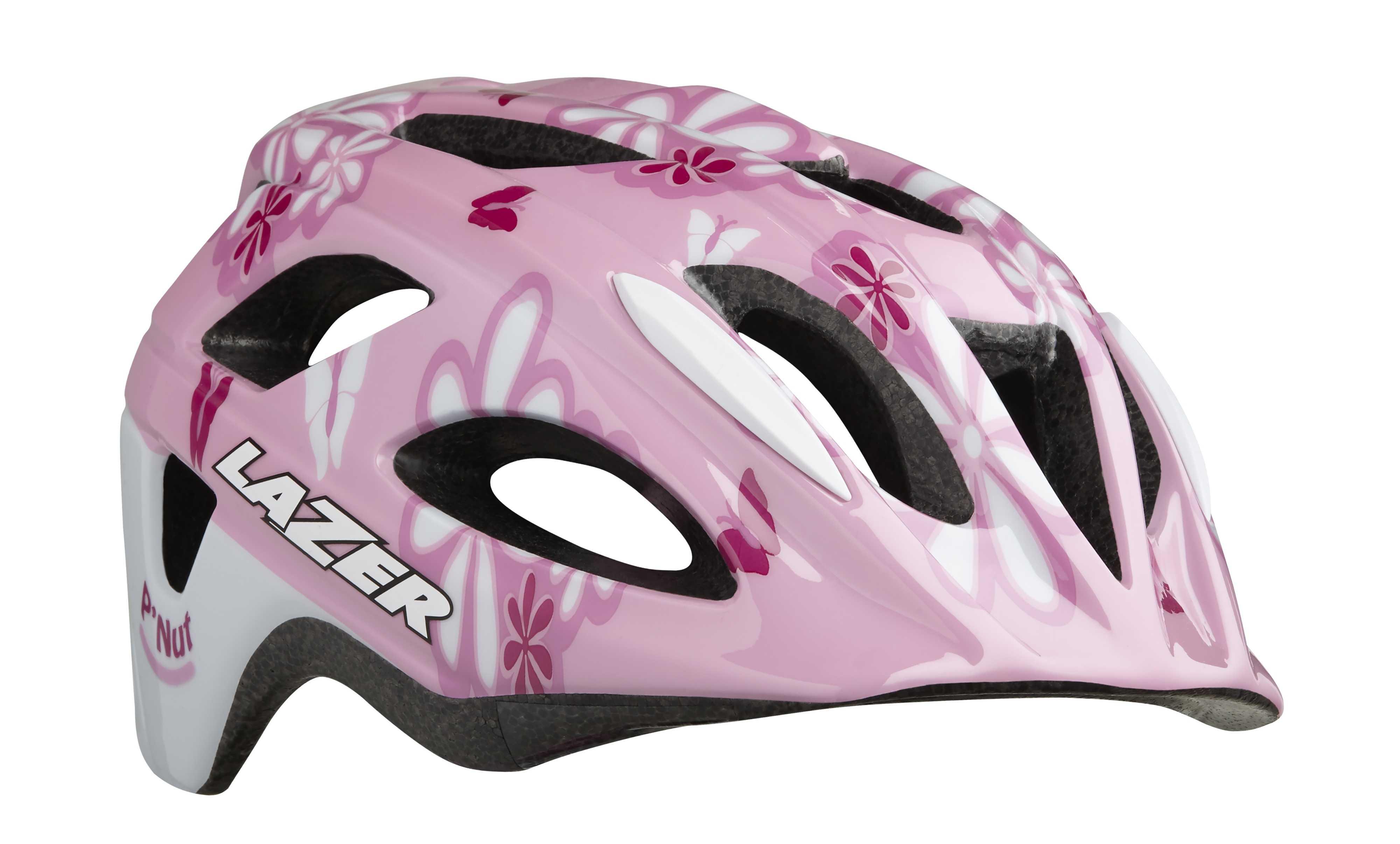 Hjälm Lazer P'Nut MIPS rosa blommor 46-50cm