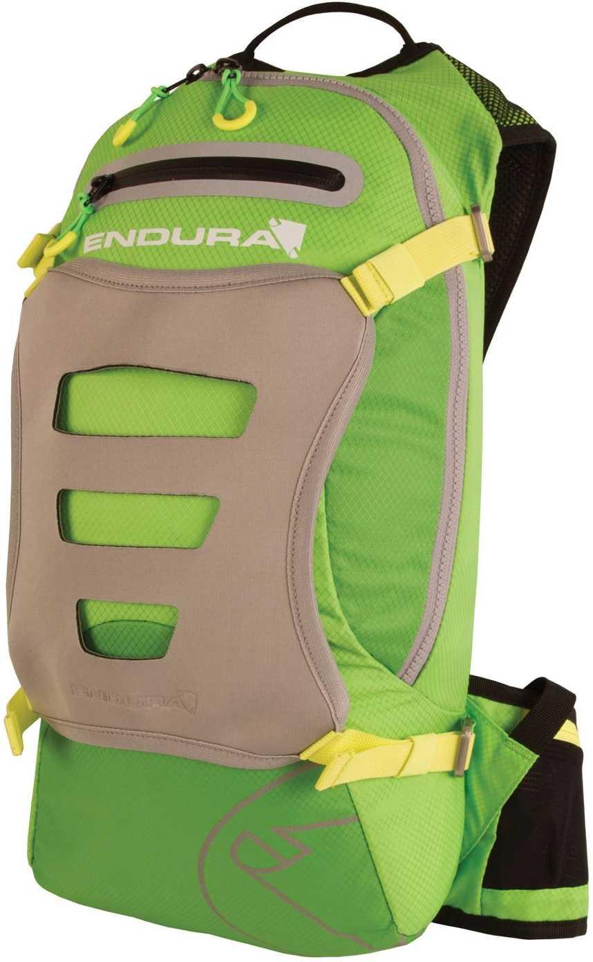 Ryggsäck Endura Singletrack 10 l med 3 l vätskebehållare grön