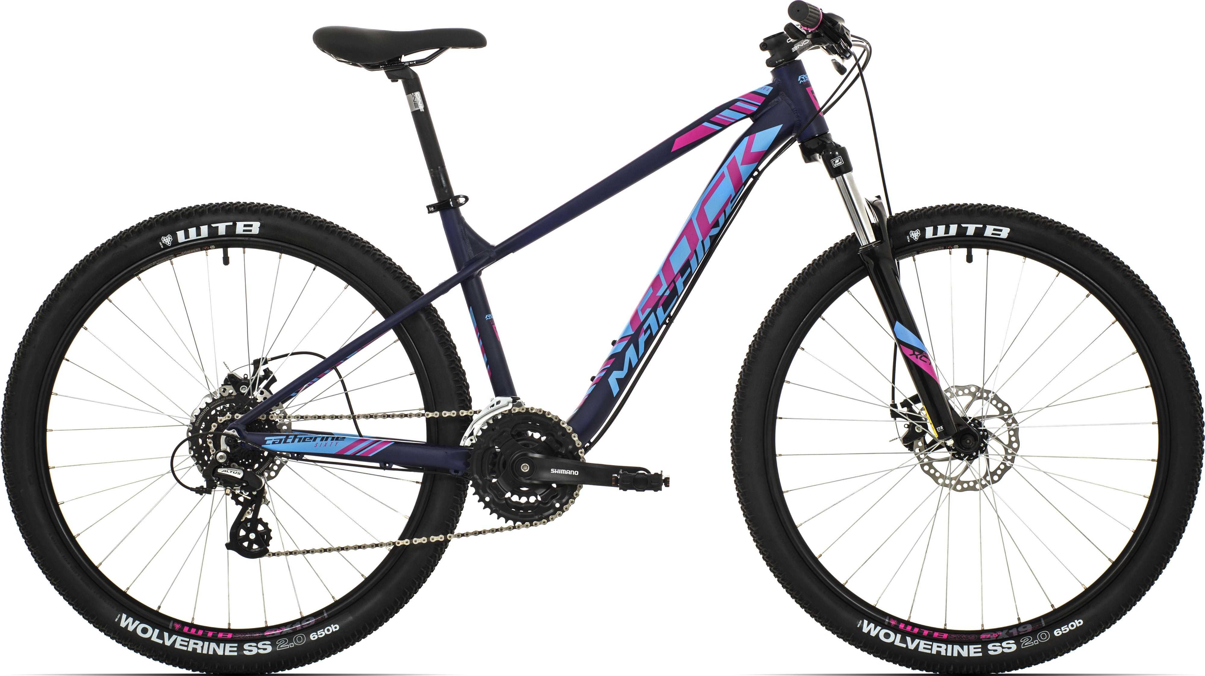 Rock Machine Catherine 60-27 matt mörkblå/blå/rosa x-small