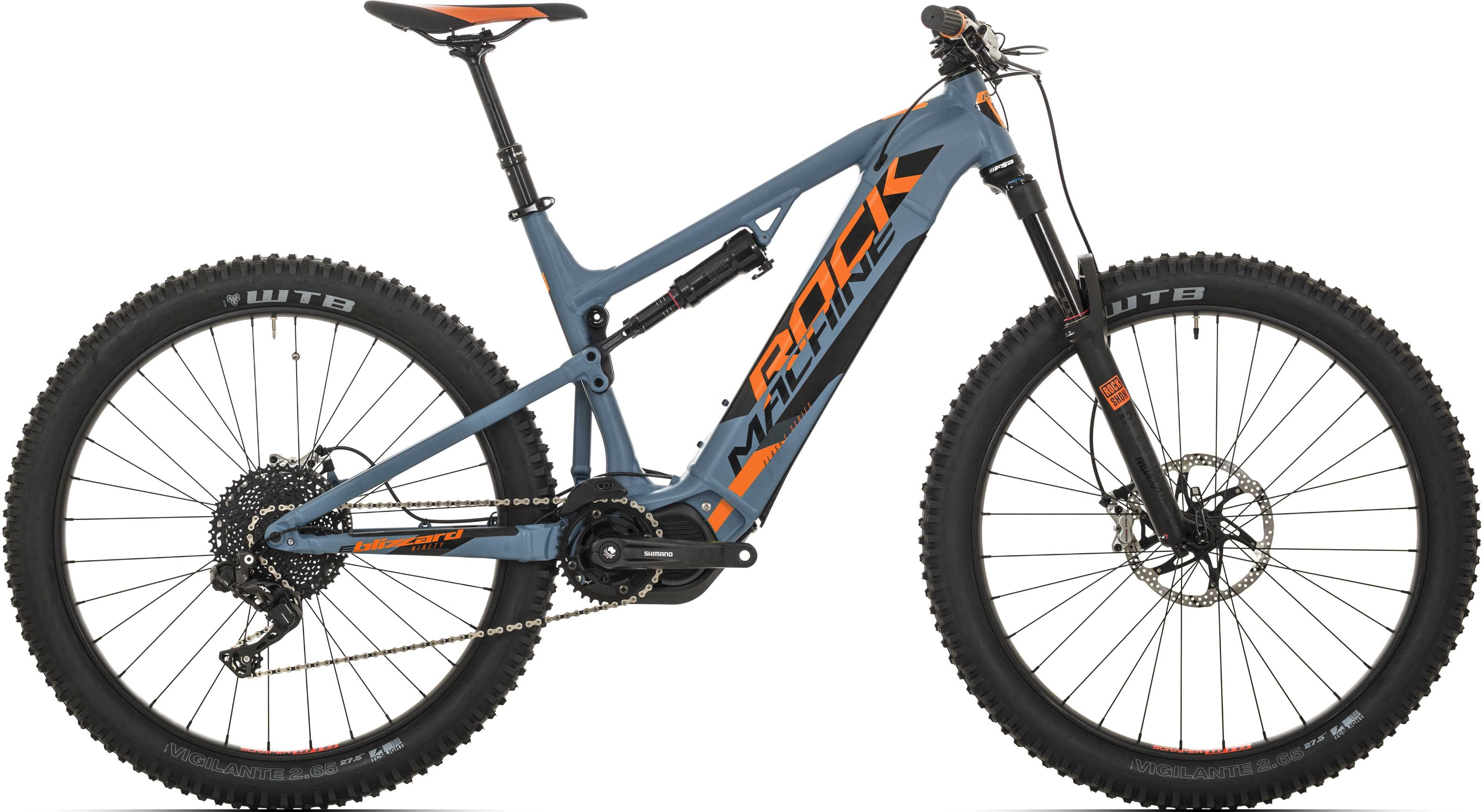 Rock Machine Blizzard INT e90-27+ matt grå/orange/svart large