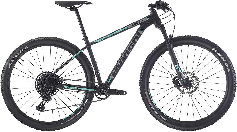 Bianchi Grizzly 9.2 NX Eagle matt svart/grå/celeste 43 cm