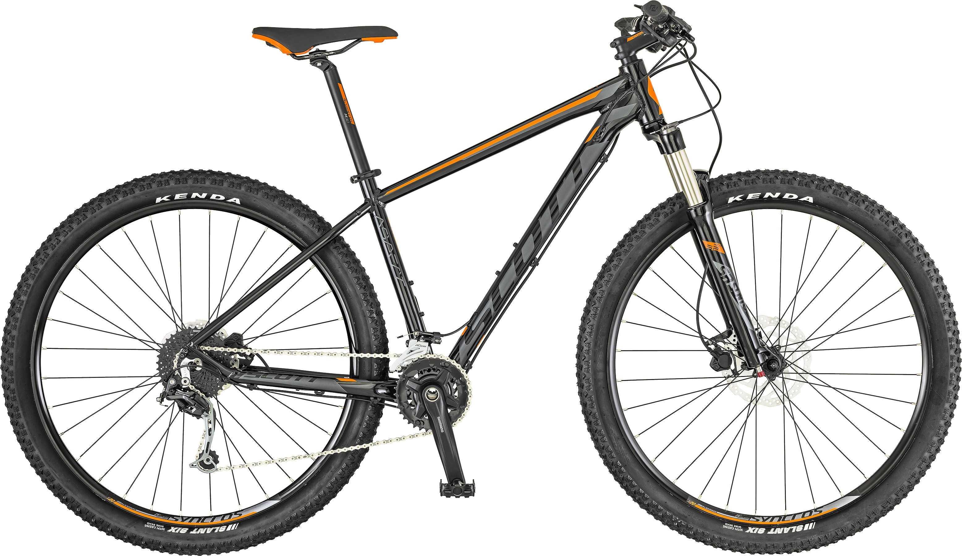 Scott Aspect 730 svart/orange large