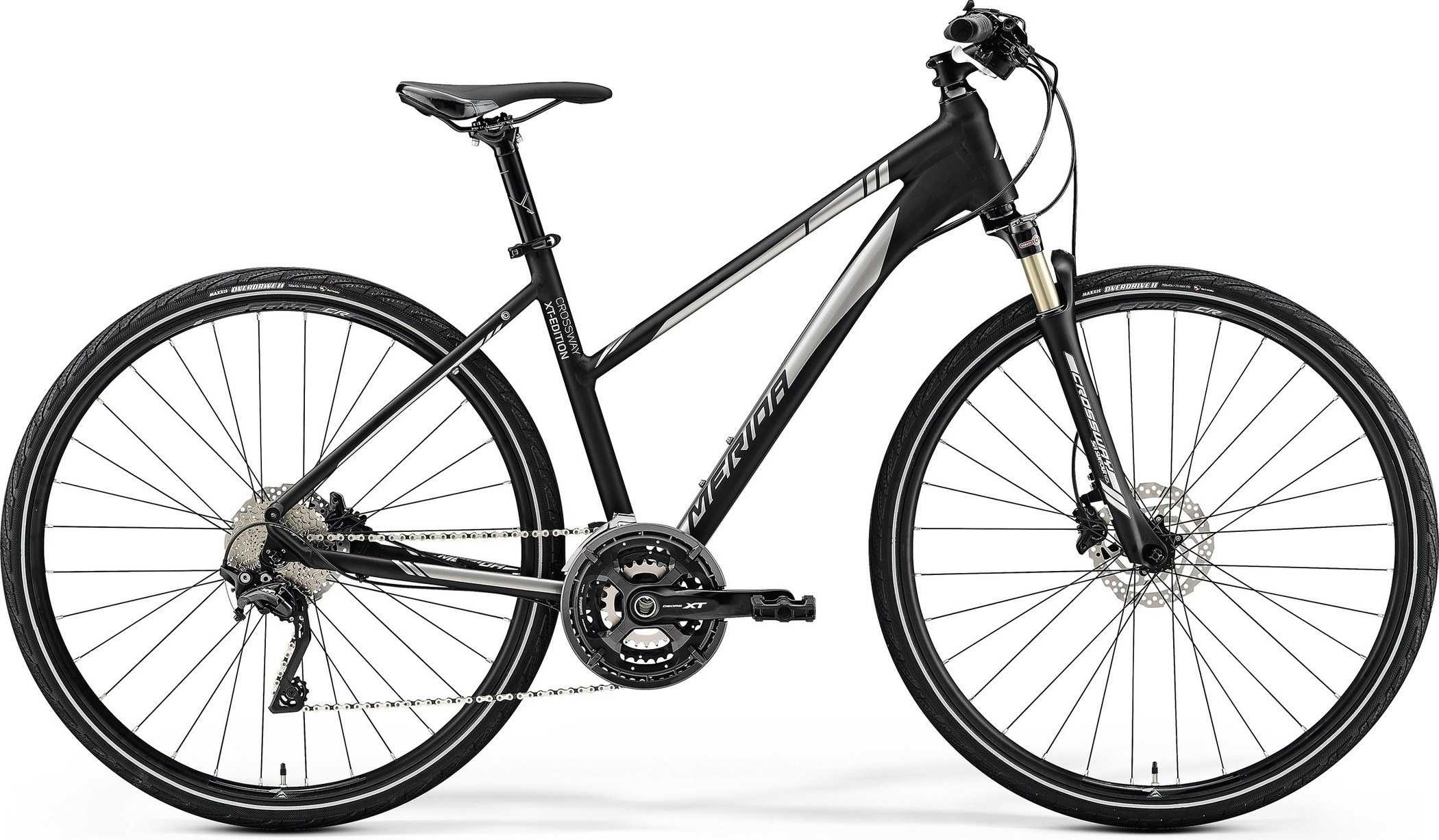 Merida Crossway XT-Edition dam svart/silver medium