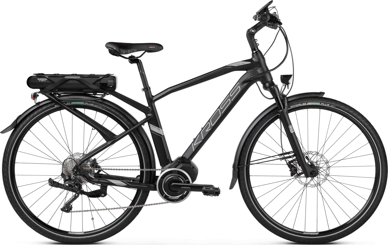 Kross Trans Hybrid 5.0 herr matt svart/graphite large