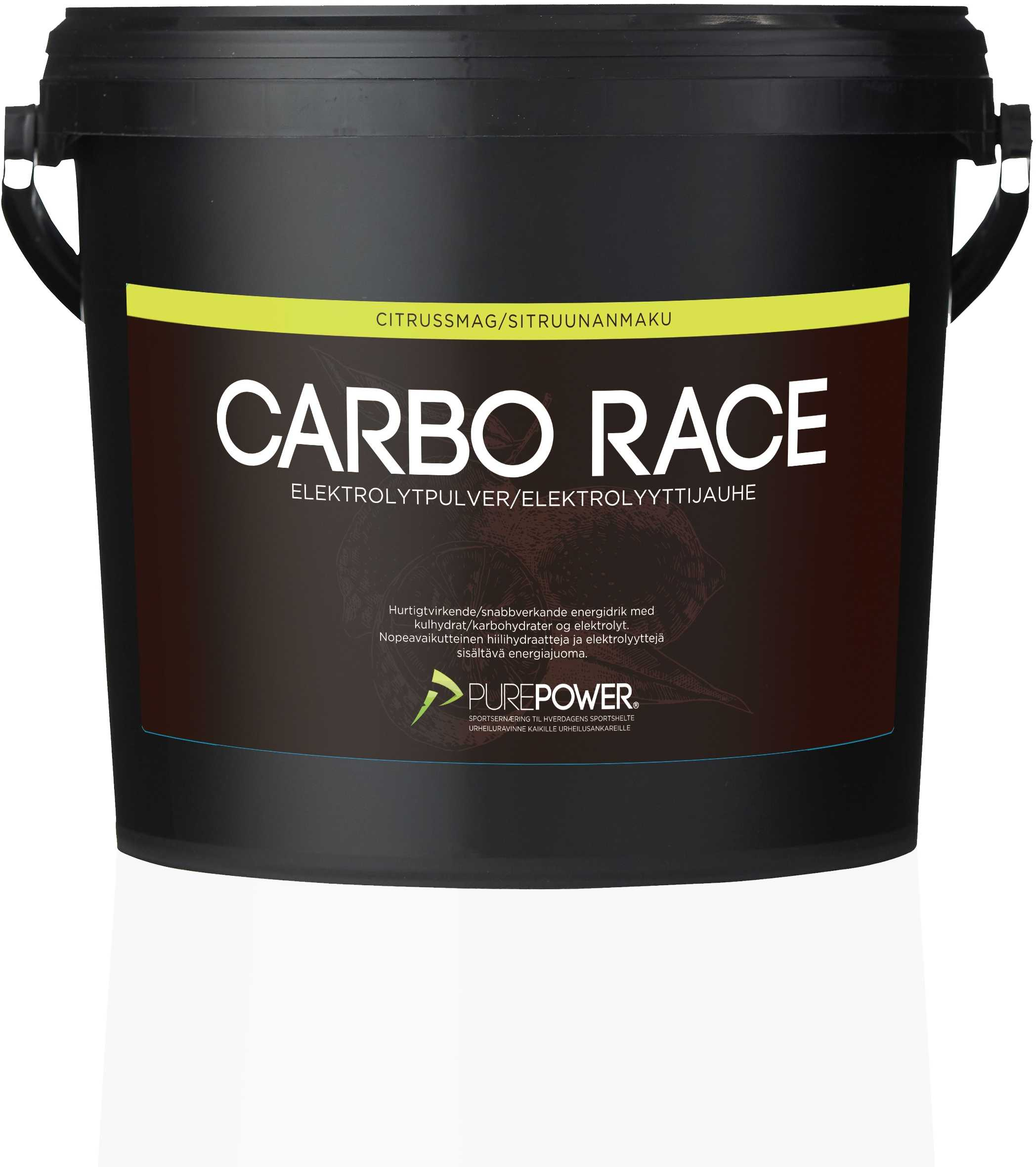 Sportdryck PurePower Carbo Race Electrolyte 3 kg Citrus