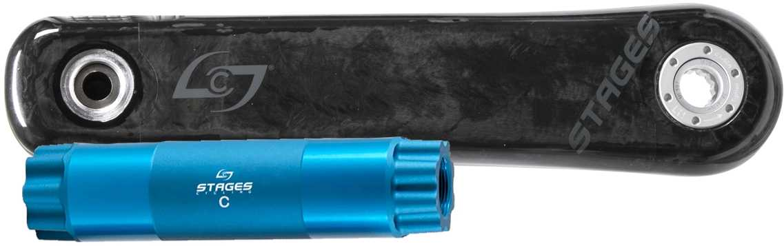 Effektmätare Stages Power L Carbon SRAM/RaceFace/Easton BB30 165 mm