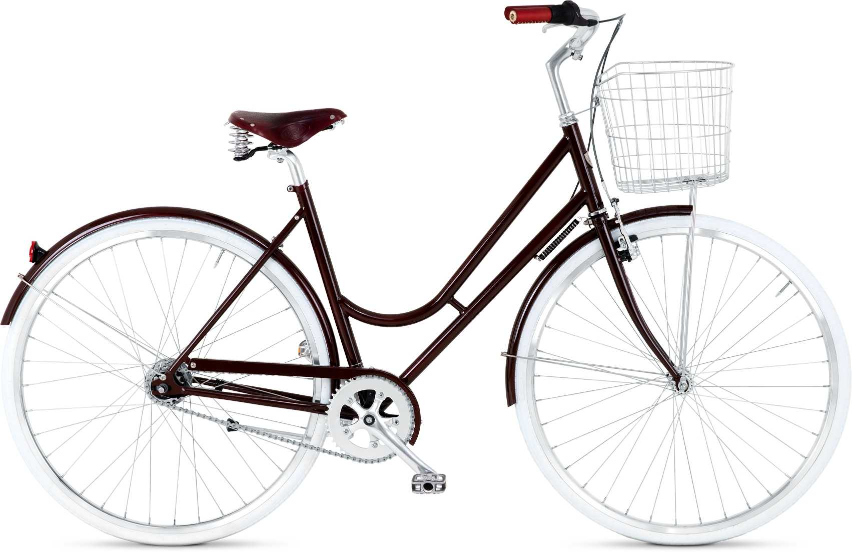 BIKEID Step-through 7-växlad burgundy 49 cm