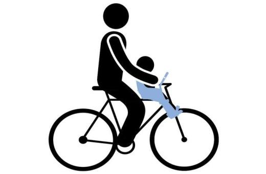 Enkel montering av cykelbarnstolen på din cykel, passar de flesta cykelmodeller