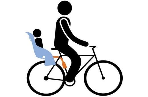 Enkel montering av cykelbarnstolen på cykelns ram