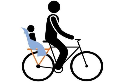 Snabb och enkel montering av cykelbarnstolen på cykelns pakethållare