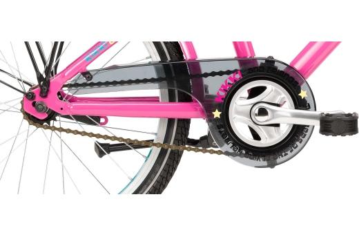 Utrustad med fotbroms, kedjeskydd och cykelstöd