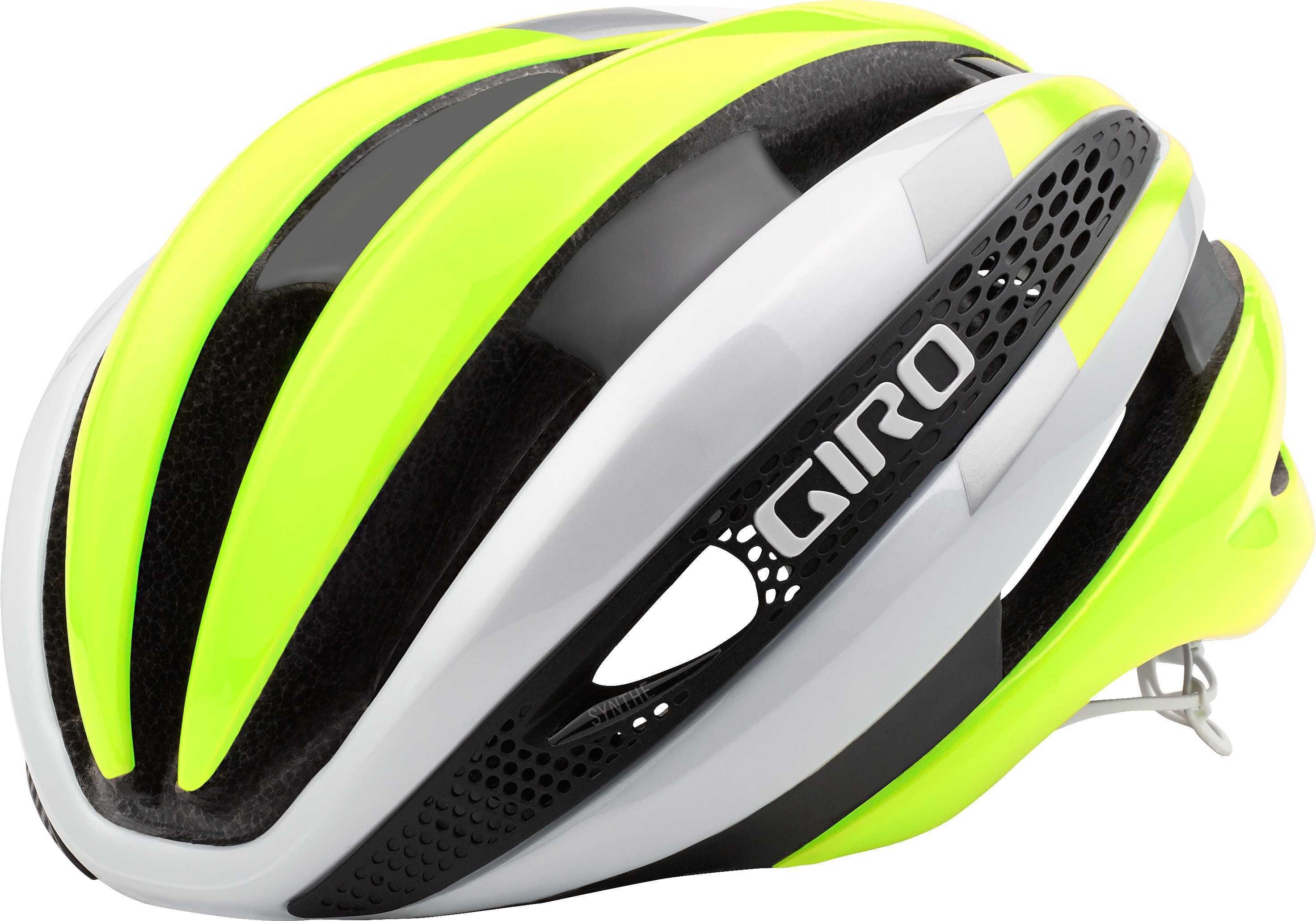 Hjelm Giro Synthe MIPS hvid/hi-vis gul | Helmets