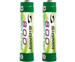 Batteri Sigma Nimh 800 mAh AA 2-pack