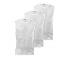 Underställ GripGrab Ultralight Sleeveless Mesh Baselayer vit 3-pack