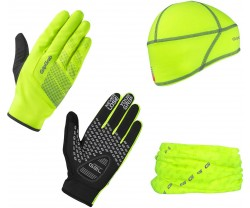 Multipack GripGrab Hi-Vis Cycling Essentials gul
