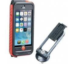 Telefontaske Topeak Ridecase iPhone SE/5/5S sort/rød + Powerpakning 3150 mAh