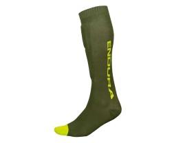 Benskydd Endura SingleTrack Shin Guard Sock grön