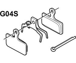 Bromsbelägg Shimano G04S metallic 1 par