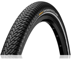 "Däck Continental Top Contact Winter II Premium Vectran Breaker 37-622 (28 x 1 3/8 x 1 5/8"") vikbart svart/reflex"