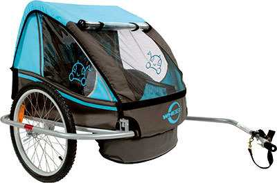 Cykelvagn Cavo för 2 barn blå
