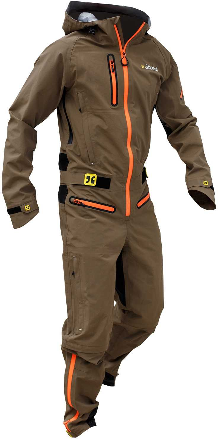 Overall Dirtlej Dirtsuit Core brun | Jackets