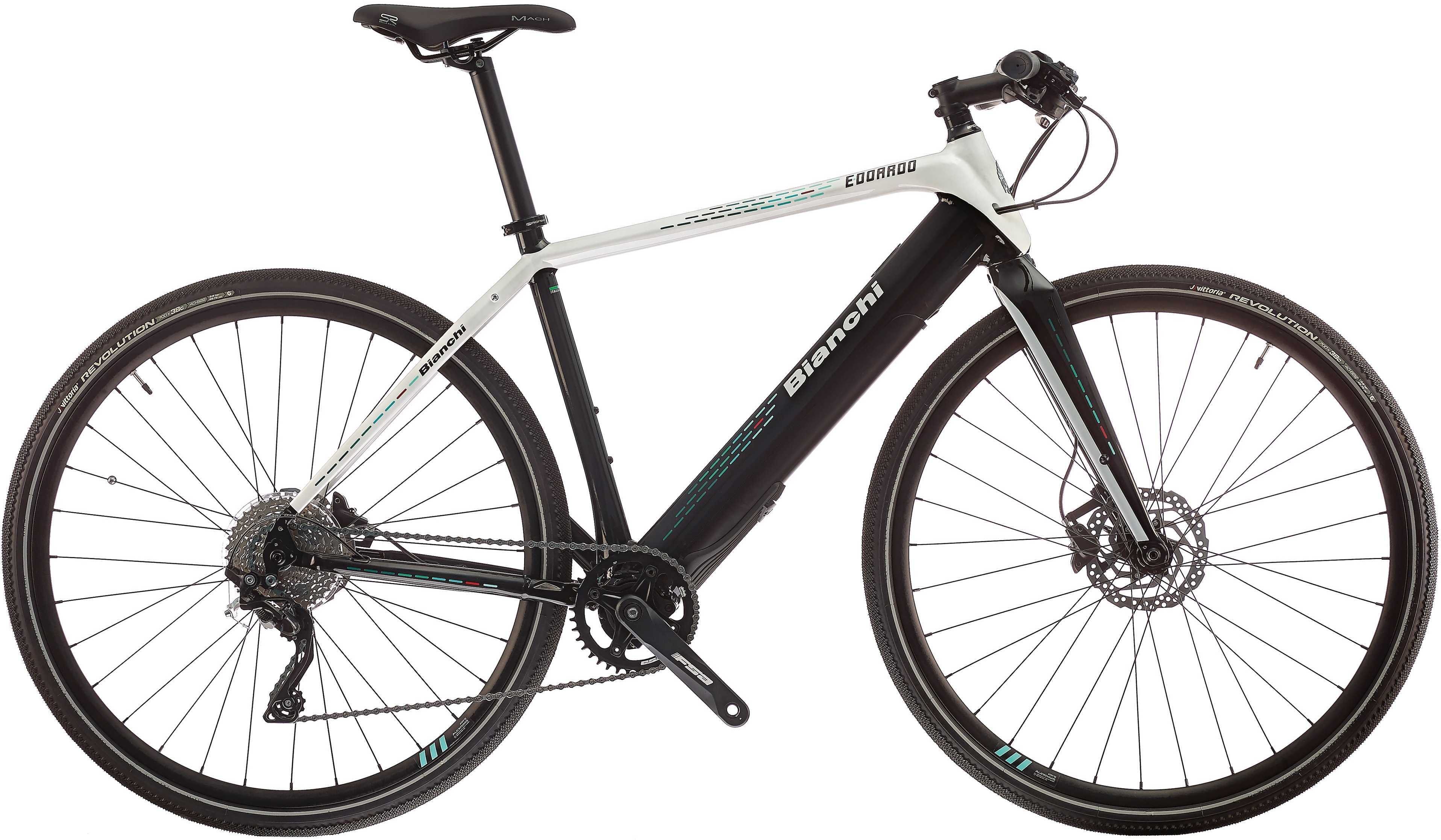 Bianchi Edoardo XT/Deore pärlvit/svart 50 cm