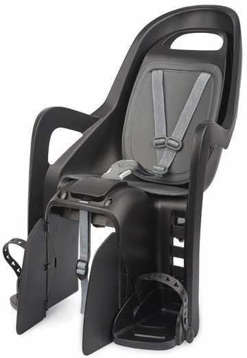 Cykelsits Polisport Groovy Maxi Pakethållarfäste svart/grå