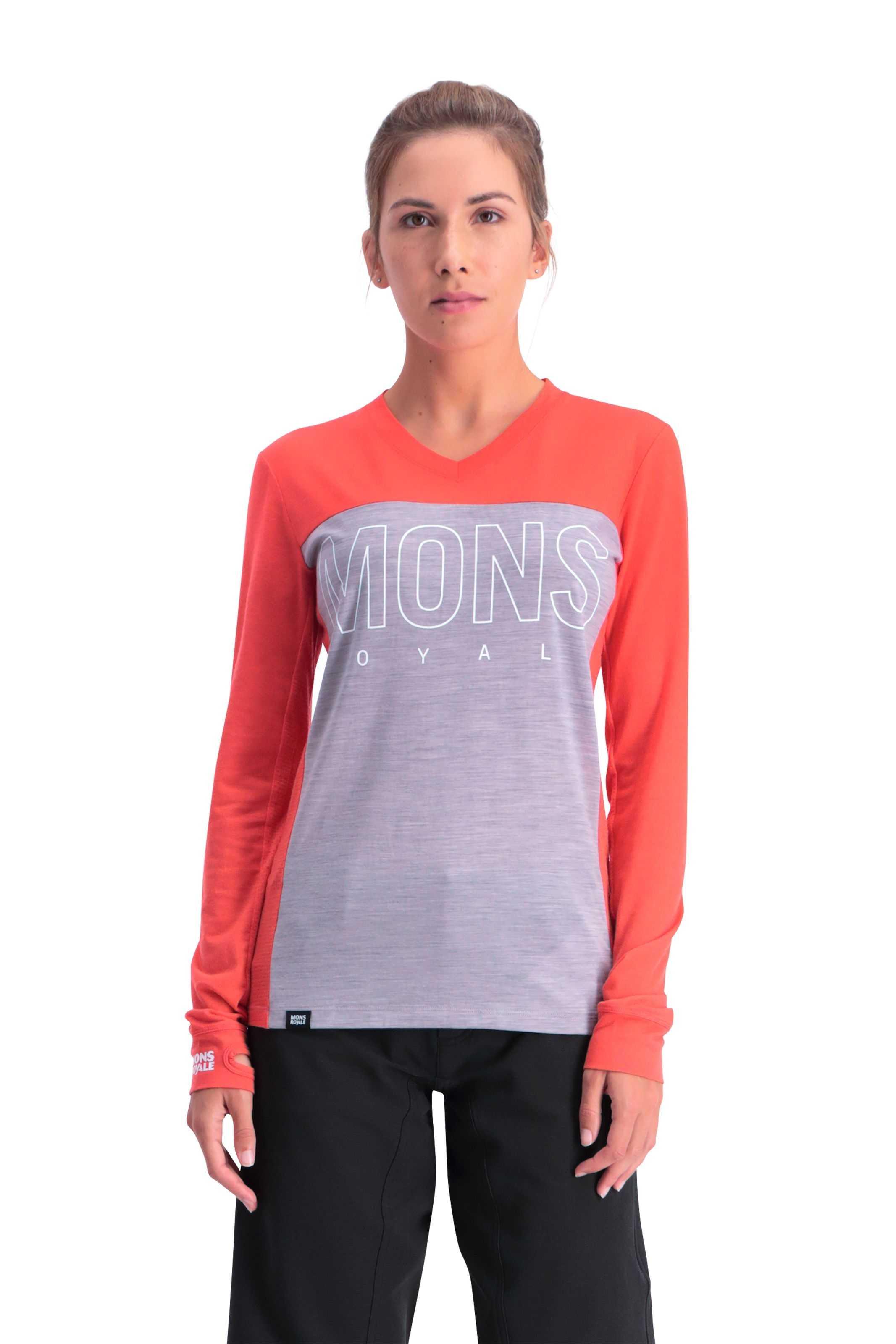 Trøje Mons Royale Phoenix Enduro VLS dame rød | Jerseys