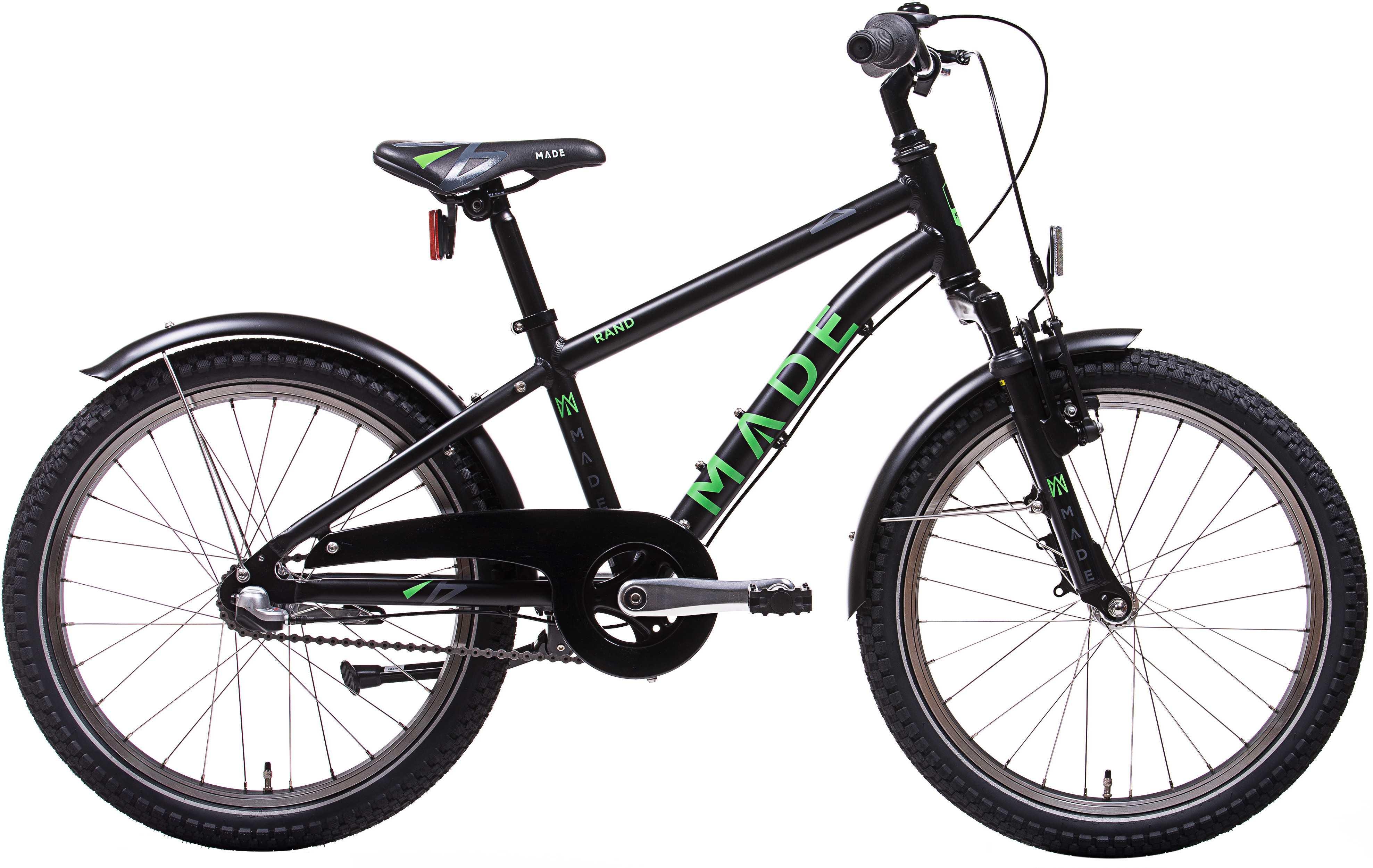 """MADE Rand 20"""" 3-växlad svart/grön"""