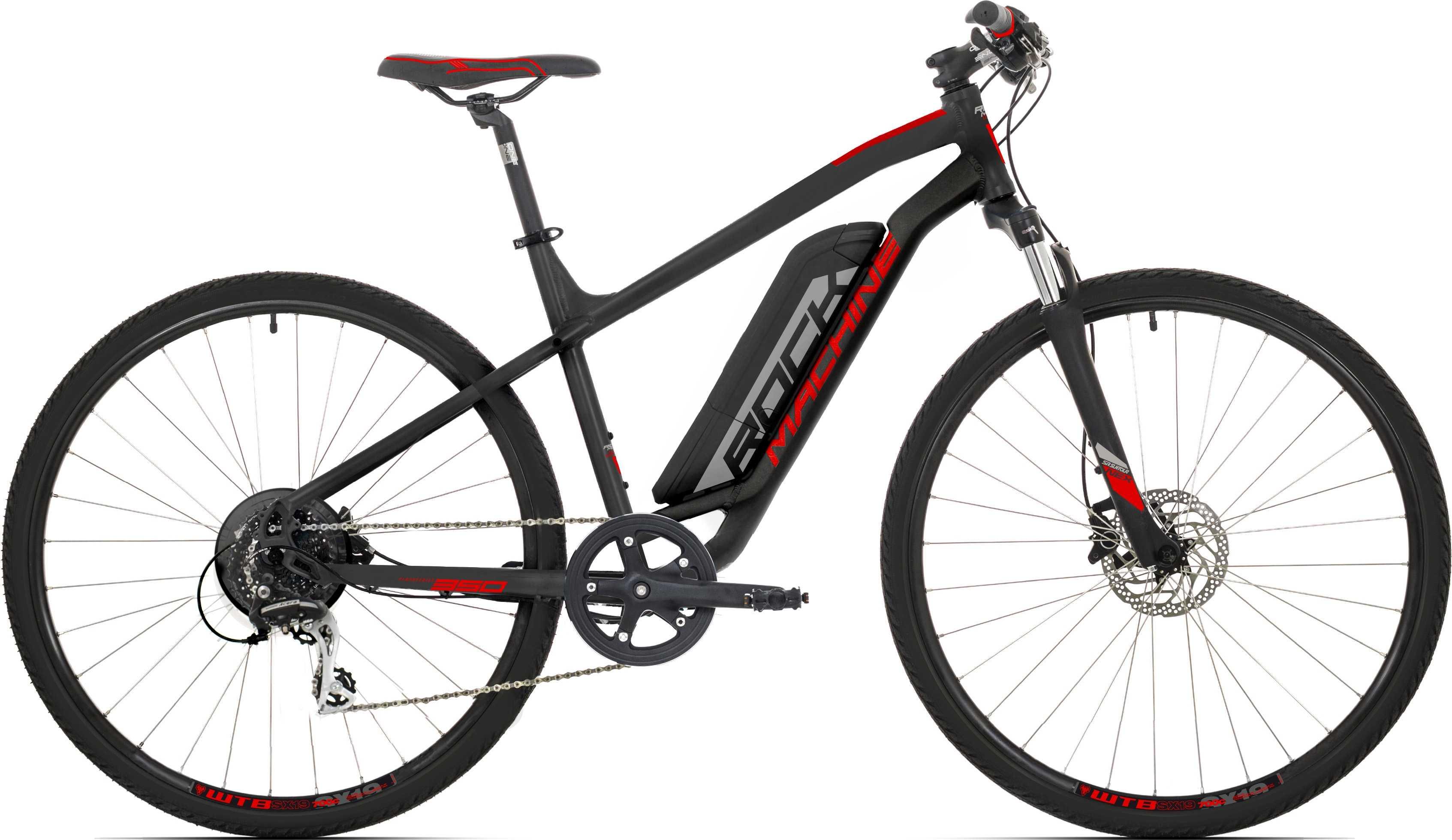 Rock Machine Crossride e350 matt svart/silver/röd x-large