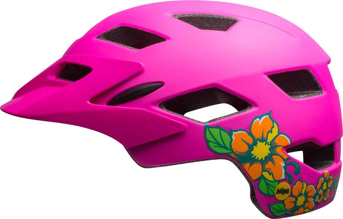 Hjälm Bell Sidetrack Youth MIPS matt pink blossom 50-57 cm ca186351c8a61