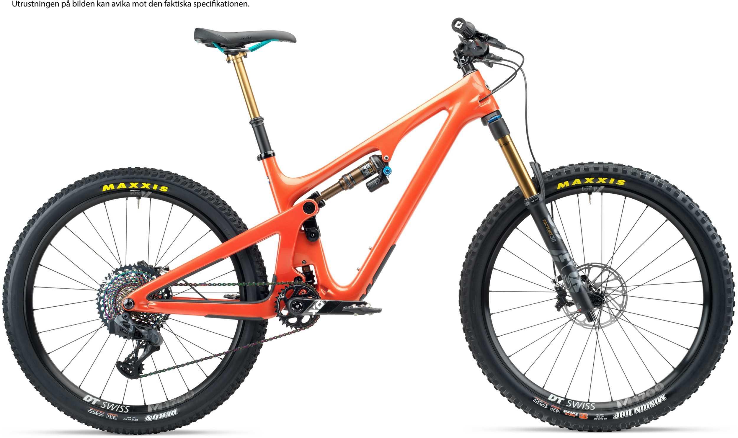 Yeti SB140 T2 AXS + XMC hjul orange | MTB