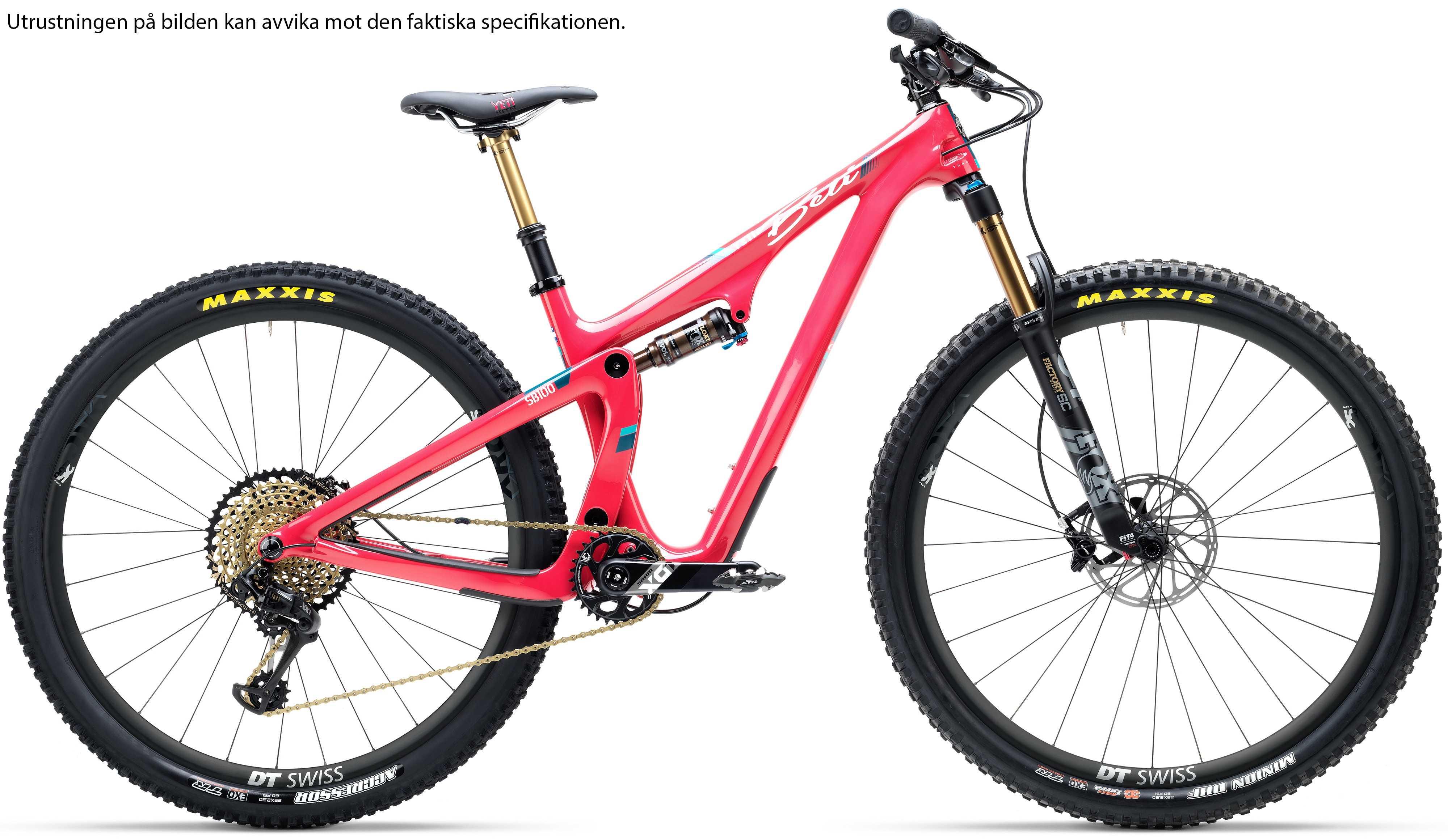 Yeti SB100 Beti Carbon GX rödrosa small