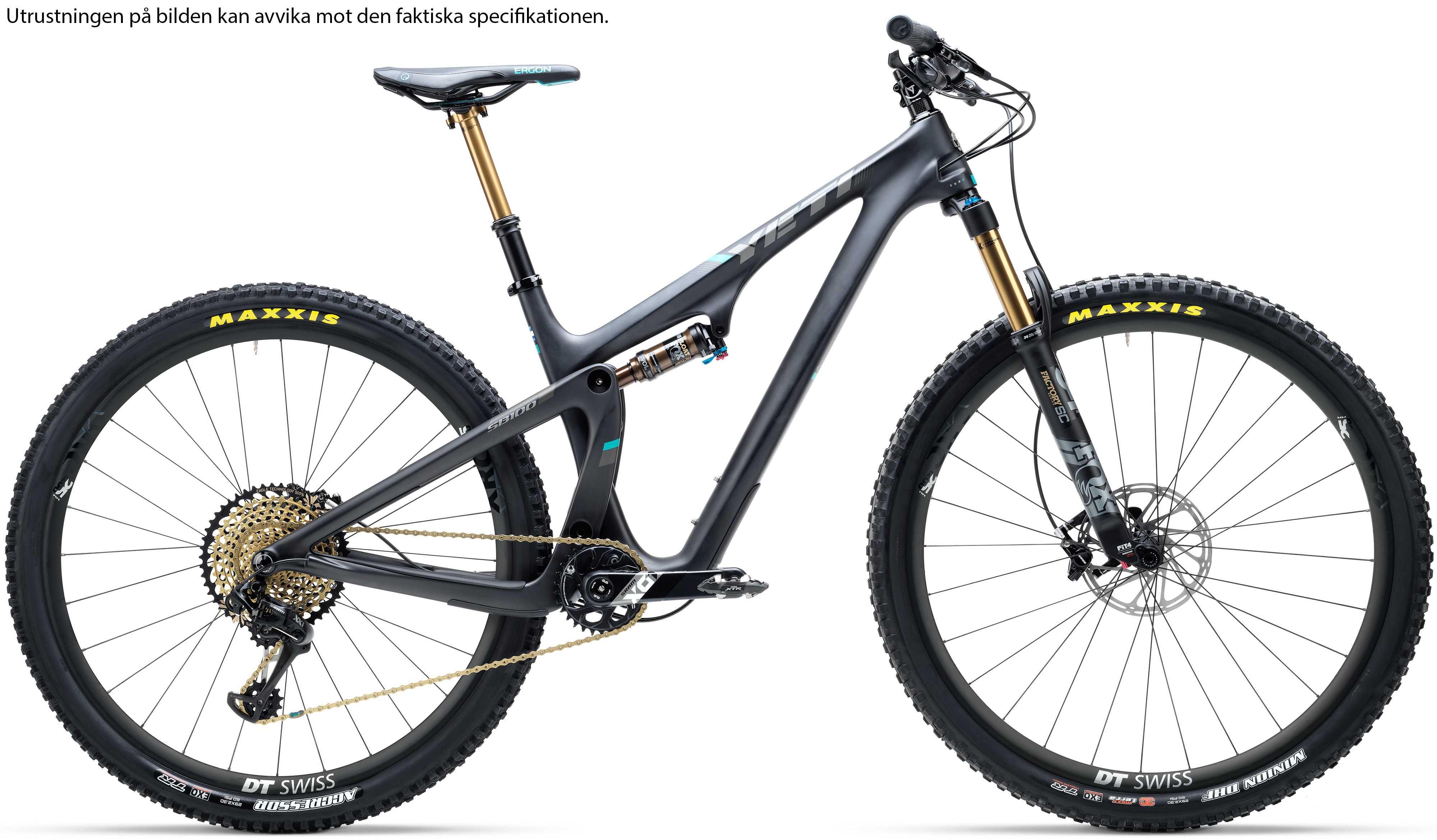 Yeti SB100 Turq X01 svart x-large