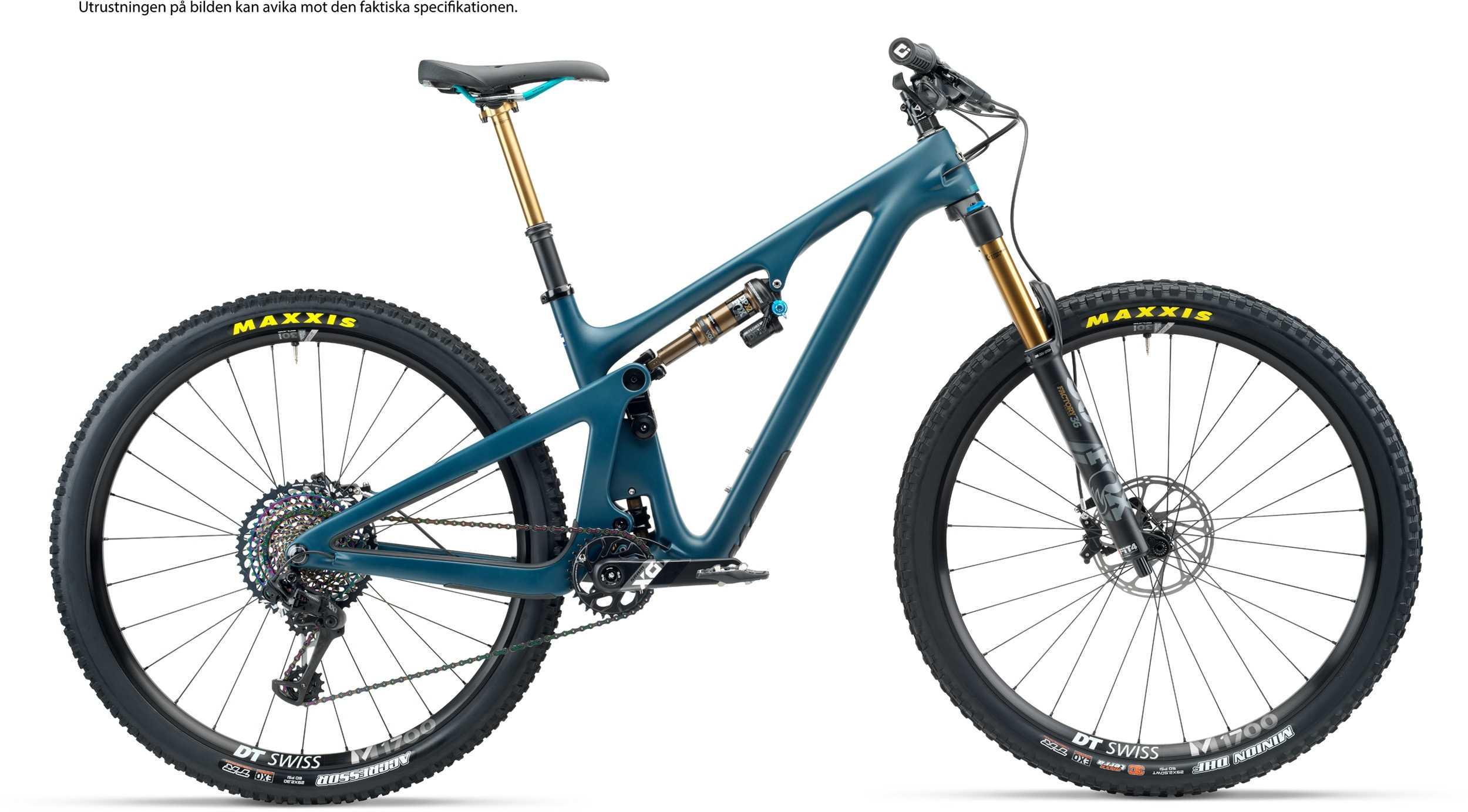 Yeti SB130 T1 + XMC hjul blå x-large