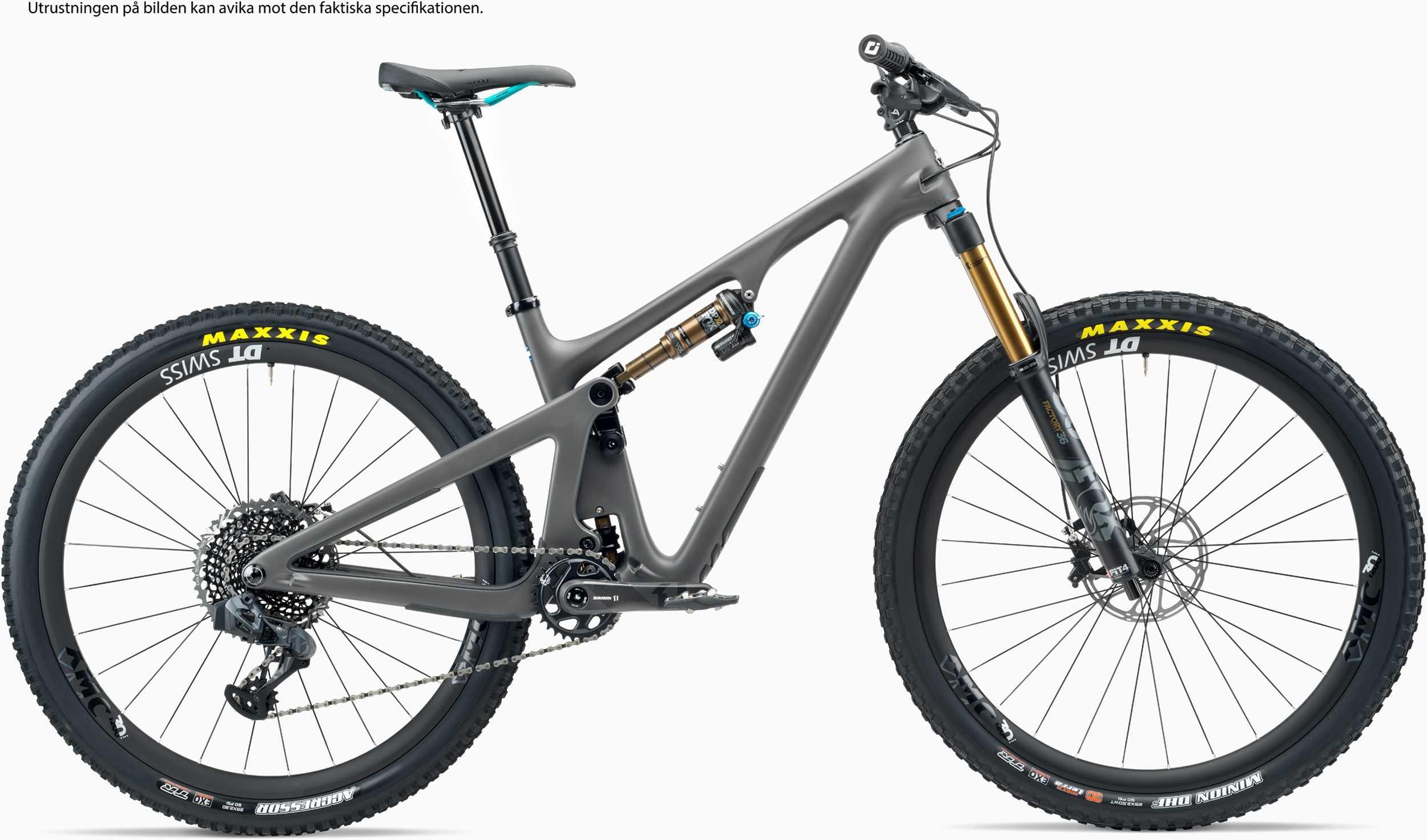 Yeti SB130 T3 + XMC hjul grå x-large