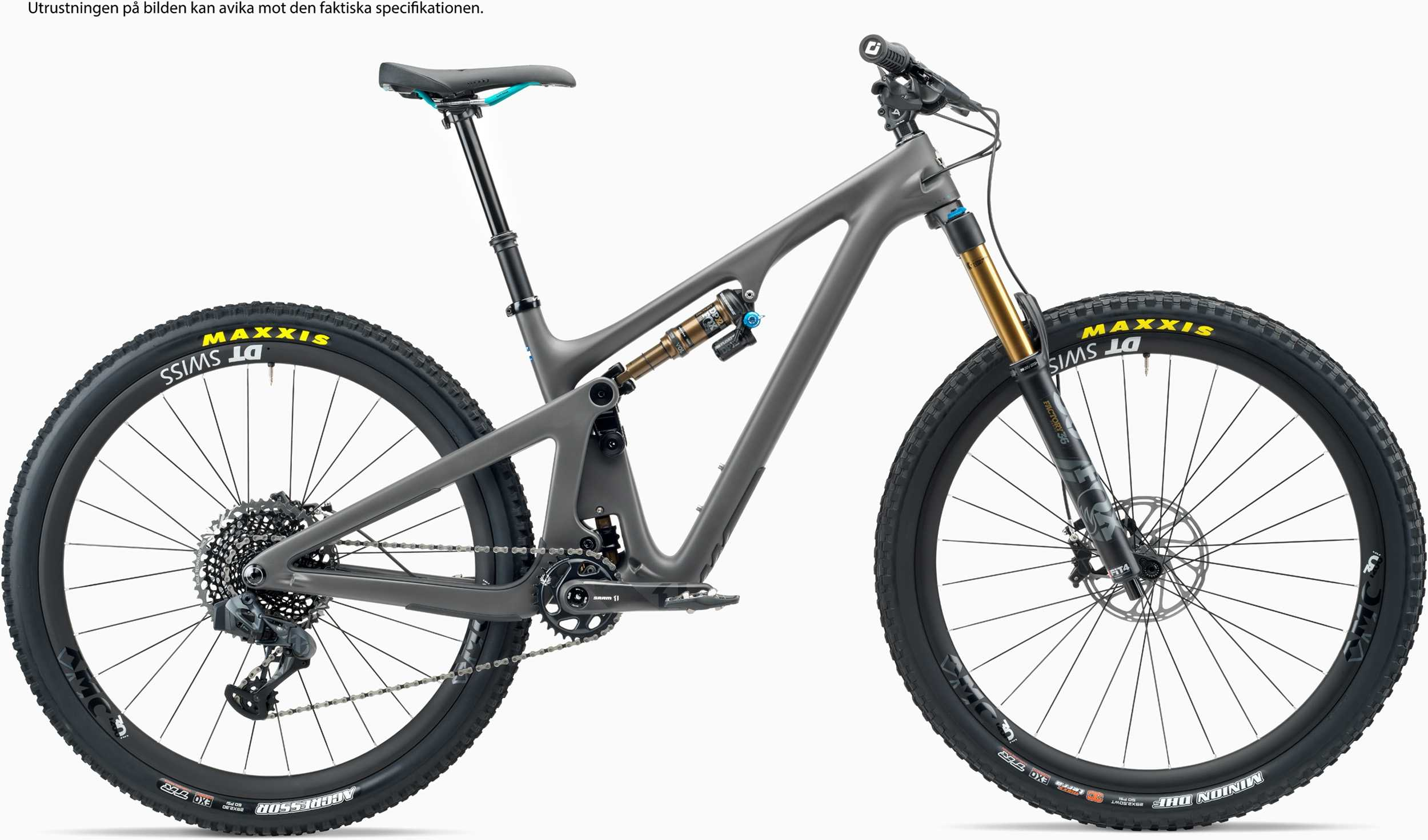 Yeti SB130 TLR AXS + XMC hjul grå medium