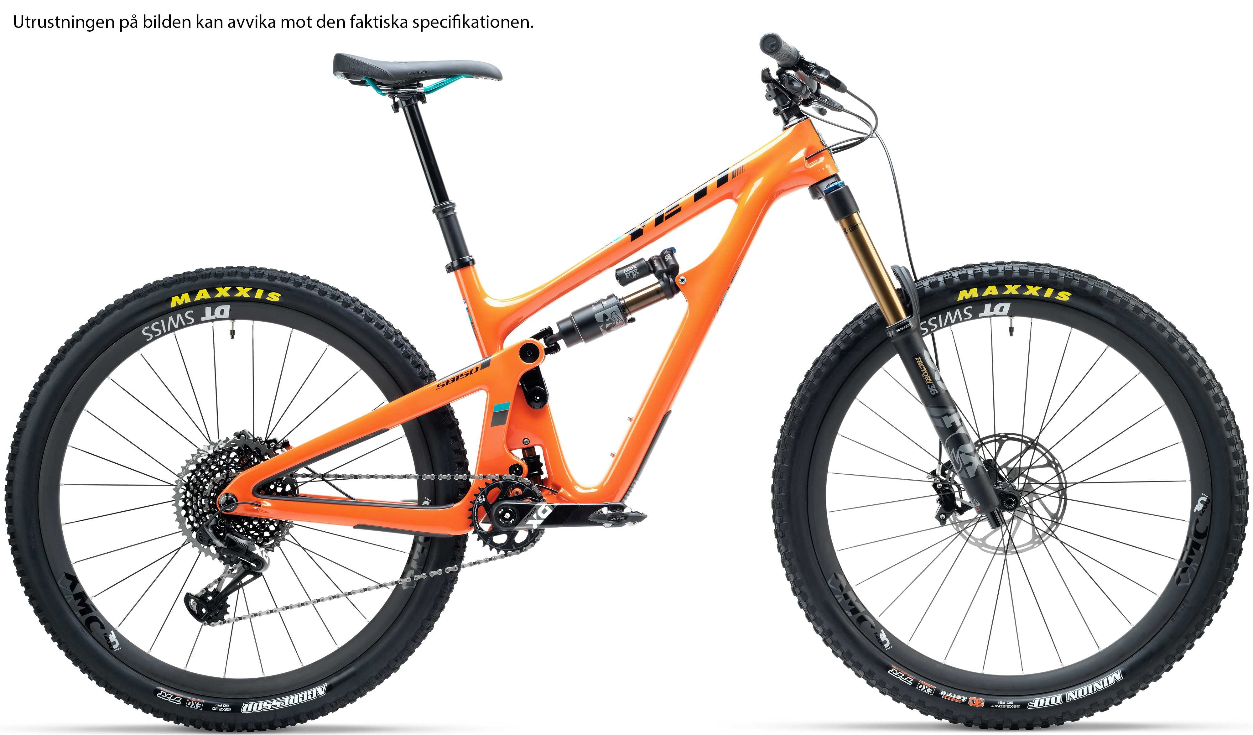 Yeti SB150 Turq X01 Race orange x-large