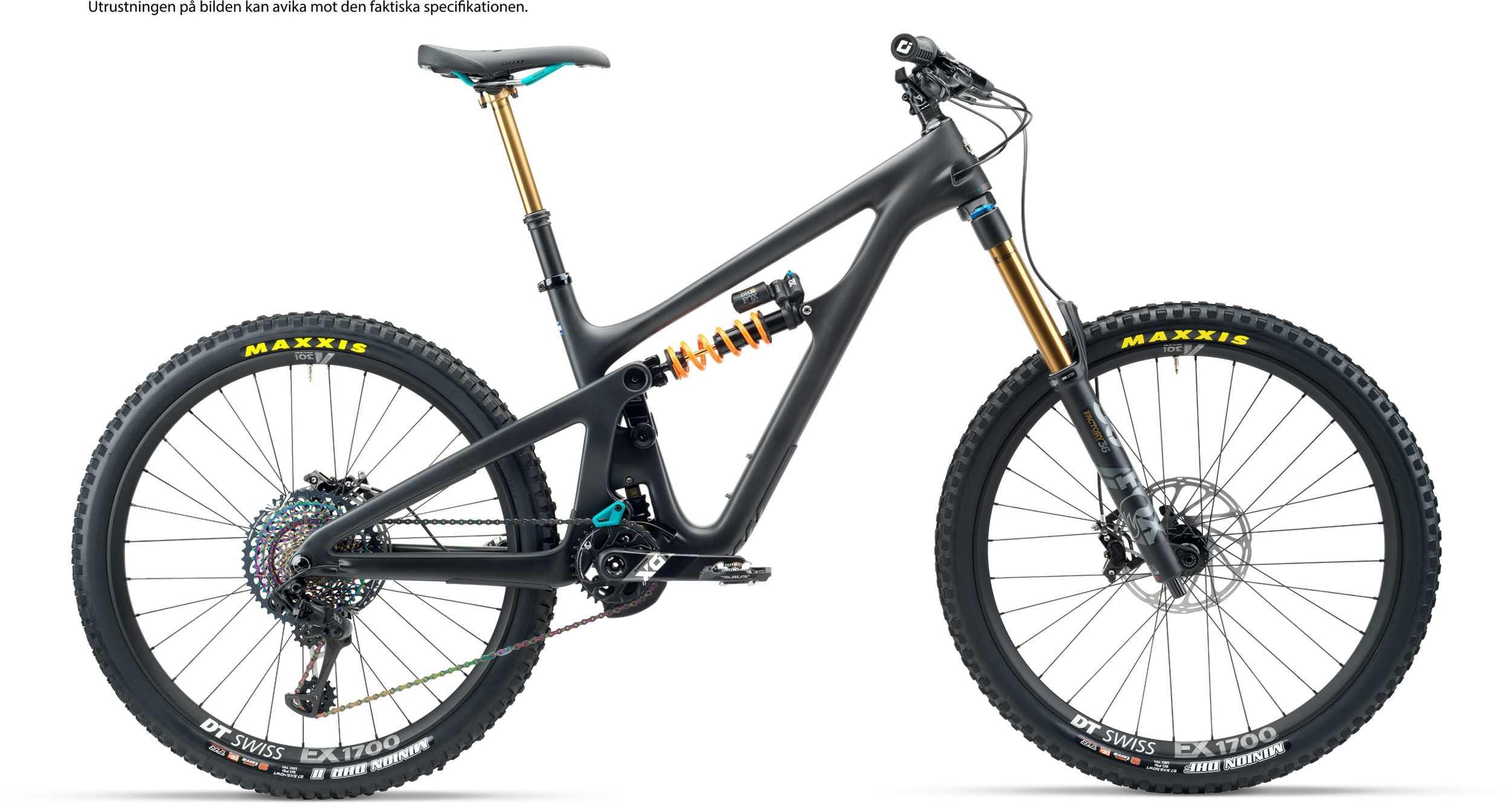 Yeti SB165 T3 AXS + XMC hjul svart x-large