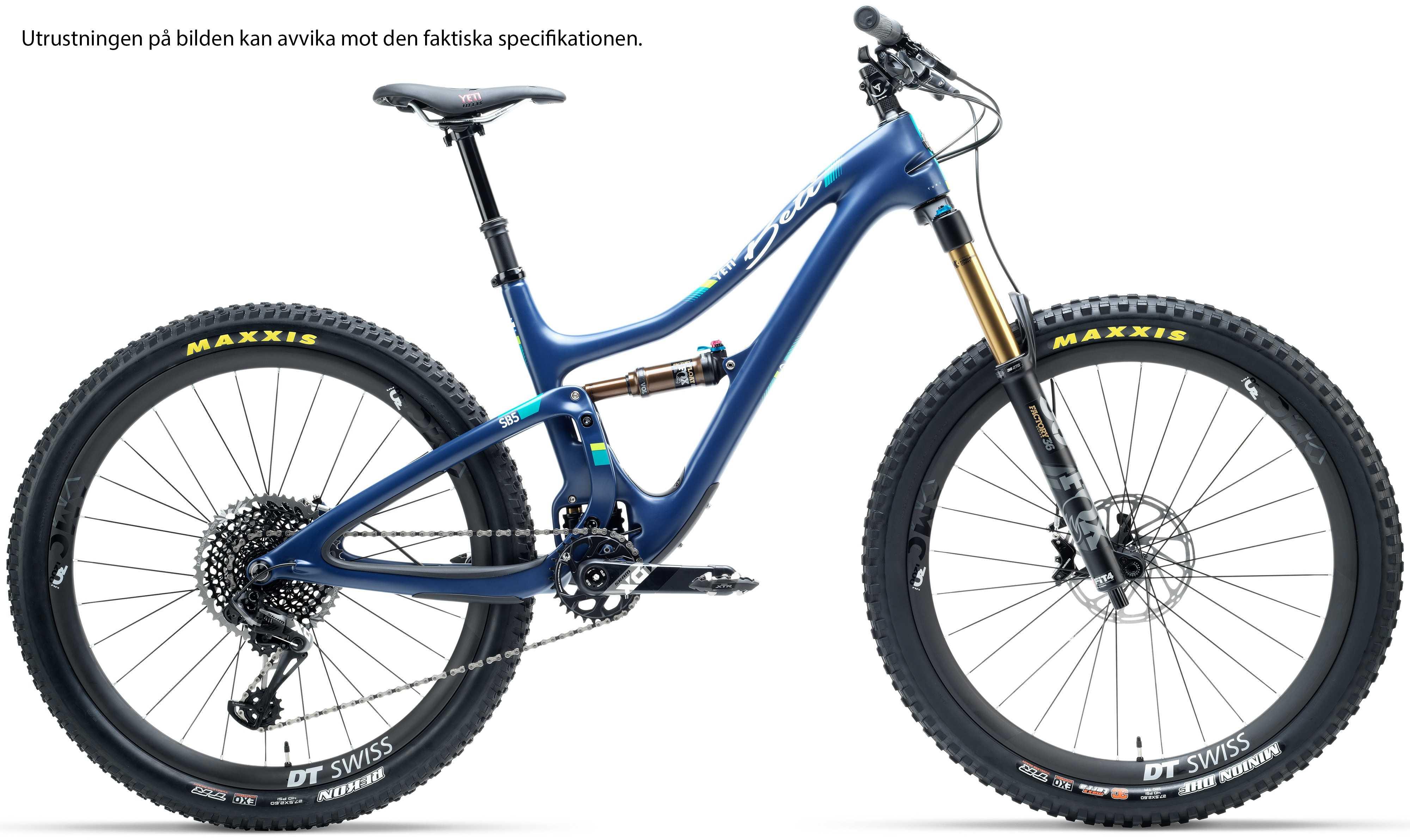 Yeti SB5 Beti Carbon GX Comp blå x-small