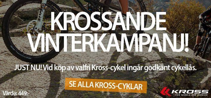 Kampanj! Cykellås på köpet vid köp av valfri Kross-cykel